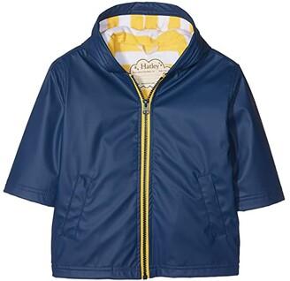Hatley Navy Yellow Splash Jacket (Toddler/Little Kids/Big Kids) (Blue) Boy's Coat