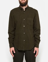Our Legacy 1950's Shirt Dark Mud HA Oxford