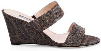 Sarah Jessica Parker Fleur Woven Wedge Mule Sandals