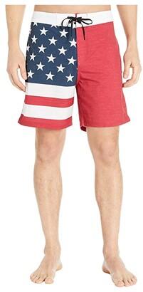 Hurley 18 Phantom Patriot Boardshorts (Black) Men's Swimwear