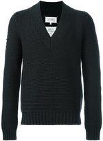 Maison Margiela chunky knit v-neck sweater