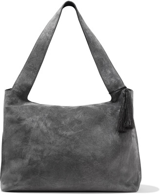 The Row Duplex Tasseled Suede Tote
