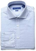 Vince Camuto Men's Slim Fit Stretch Stripe Print Dress Shirt with Collar