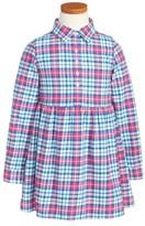 Vineyard Vines Toddler Girl's Piper Plaid Flannel Shirtdress