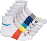 Fila 5 Cushion Quarter Socks - 6-Pack, Quarter Crew (For Big Boys)