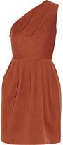 Halston Pleated jacquard dress
