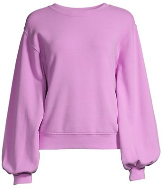 UGG Brook Balloon-Sleeve Crewneck Sweatshirt