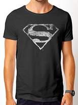 Superman Men's Logo Mono Distressed T-Shirts,XX-Large