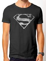 Superman Men's Logo Mono Distressed T-Shirts