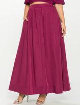 ELOQUII Plus Size Taffeta Ball Gown Maxi Skirt