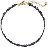 Vanessa Mooney Cord Lace Patterned Choker Necklace Necklace