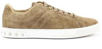 Tod's Sneakers In Beige Suede