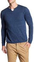 Autumn Cashmere Split Neck Long Sleeve Shirt