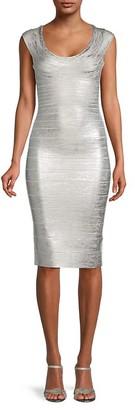 Herve Leger Knit Bandage Bodycon Dress