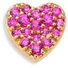 Heart Pink Sapphire & 18K Yellow Gold Charm