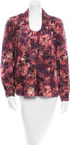 Peter Som Silk Printed Top