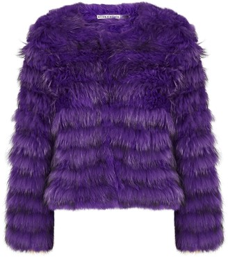 Alice + Olivia Fawn Purple Fur Jacket
