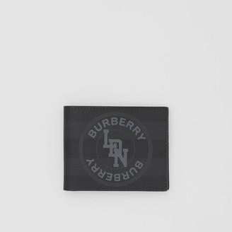 Burberry Logo Graphic London Check Bifold Wallet