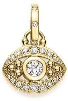 Temple St. Clair 18K Yellow Gold Evil Eye Pendant with Diamonds