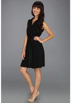 Jessica Simpson Sleeveless Collar Dress w/ Tulip Back Bodice