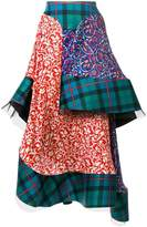 Esteban Cortazar tartan layered skirt