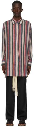 Loewe Multicolor Detachable Collar Stripe Shirt