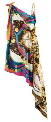 Versace Printed silk scarf dress