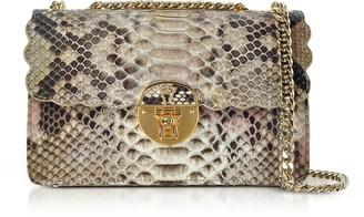 Ghibli Python Leather Chain Shoulder Bag
