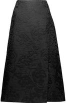 Theory Anneal wrap-effect jacquard midi skirt
