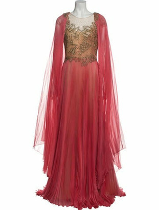 Marchesa Silk Long Dress w/ Tags Pink