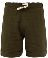 Thumbnail for your product : MARANÉ Drawstring Linen Shorts - Khaki