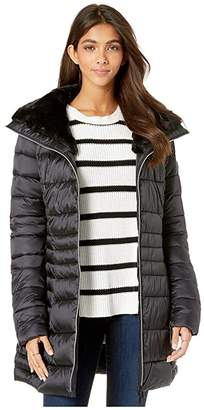 Save The Duck Iris 9 Puffer Coat with Faux Fur Lined Collar