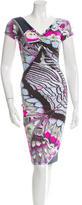 Roberto Cavalli Printed Knee-Length Dress w/ Tags