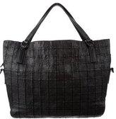 Burberry Studded Square Appliqué Duffle Bag