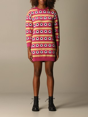 Boutique Moschino Pullover Dress In Jacquard Virgin Wool