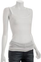 white rib knit 'Cabana' tank