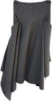 Sportmax Grey Wool Skirt for Women