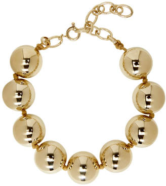 Dheygere Gold Oversized Pearl Necklace