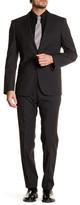 HUGO BOSS Huge/Genius Two Button Notch Lapel Trim Fit Wool Suit
