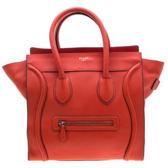 Celine Luggage Orange Leather Handbags