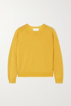 Mila Louise Alexandra Golovanoff Metallic Cashmere And Silk-blend Sweater - Yellow