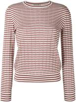 A.P.C. 'Annabelle' striped pointelle-knit sweater