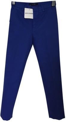 Sofie D'hoore Blue Cotton Trousers for Women