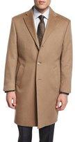 Neiman Marcus Cashmere Button-Down Long Coat, Camel