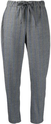 Semi-Couture Elasticated Check Pattern Trousers