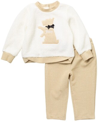 Juicy Couture Puppy Faux Shearling Sweater & Pants Set