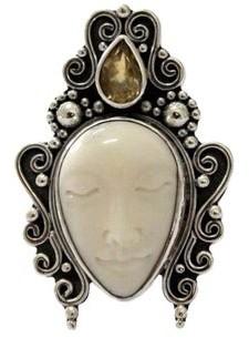 Novica Handmade Sleeping Princess Sterling Silver Citrine Ring