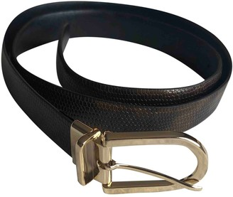 Theyskens' Theory Brown Patent leather Belts