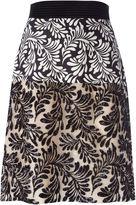 Ungaro foliage print sequin skirt - women - Polyester/Polyamide/Cotton/Acetate - 42