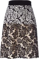 Ungaro foliage print sequin skirt